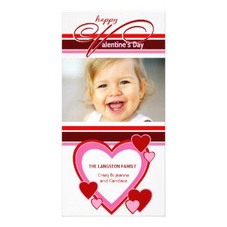 El día de San Valentín - tarjetas de la foto de lo Plantilla Para Tarjeta De Foto