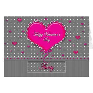 El día de San Valentín - TÍA - gris/rosa/lunar Tarjeta De Felicitación