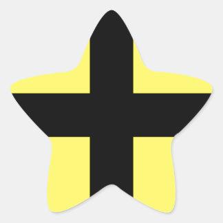 El día de St David - bandera Pegatina En Forma De Estrella