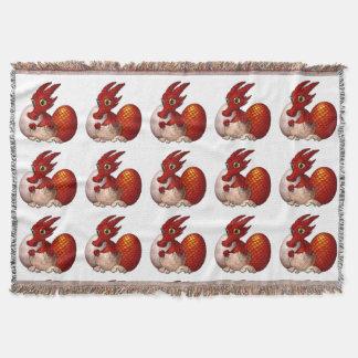 El día de St David, bebé del dragón Galés, manta