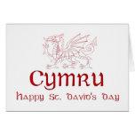 El día de St David, santo David, Ddydd Gwyl Dewi Felicitaciones