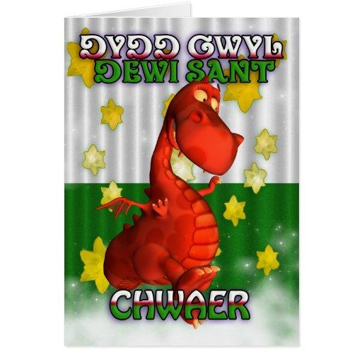 El día de St David, tarjeta Galés, Dydd Gwyl Dewi