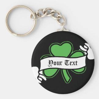 El día de St Patrick adaptable del trébol Llaveros Personalizados