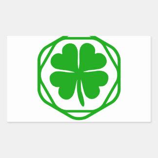 El día de St Patrick afortunado del encanto Rectangular Pegatina