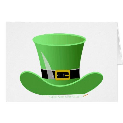 El día de St Patrick afortunado del gorra irlandés Tarjeta De Felicitación