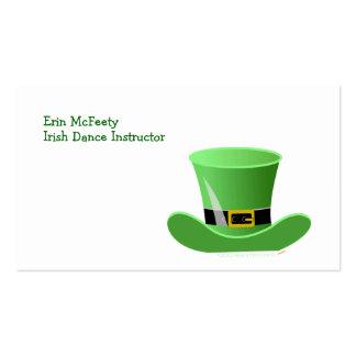 El día de St Patrick afortunado del gorra irlandés Tarjetas De Visita