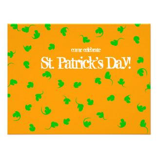 El día de St Patrick anaranjado de la ducha del tr Comunicado