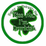 ¡El día de St Patrick - béseme, yo son Drunkish! Escultura Fotográfica