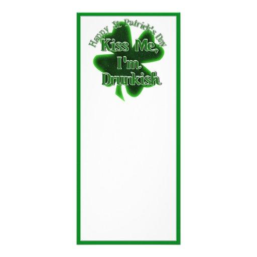 ¡El día de St Patrick - béseme, yo son Drunkish! Tarjeta Publicitaria Personalizada