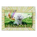 El día de St Patrick - Bichon Frise - Mia Felicitación