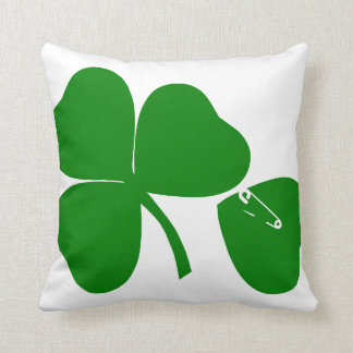 El día de St Patrick - consiga 3 afortunados+1 = 4 Cojín Decorativo