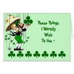 El día de St Patrick de bendición irlandés de la t