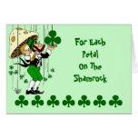 El día de St Patrick de bendición irlandés de la t Felicitaciones