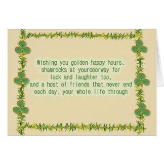 El día de St Patrick de bendición irlandés Tarjeta De Felicitación
