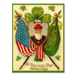 El día de St Patrick de la bandera americana de St Postal