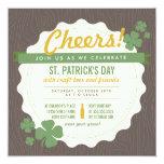 El día de St Patrick de la cerveza del arte invita Comunicado Personal
