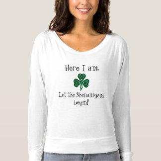 ¡El día de St Patrick de la diversión dejó los Playera