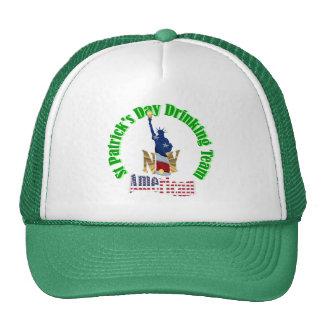 El día de St Patrick del americano Gorros