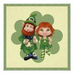 El día de St Patrick del arte del pixel de Invitación 13,3 Cm X 13,3cm