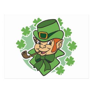 El día de St Patrick del dibujo animado del Leprec Postal
