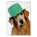 El día de St Patrick del golden retriever Felicitacion