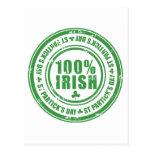 El día de St Patrick del irlandés del 100% - cerve Tarjetas Postales