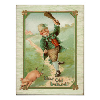 El día de St Patrick del Shillelagh del cerdo del  Póster