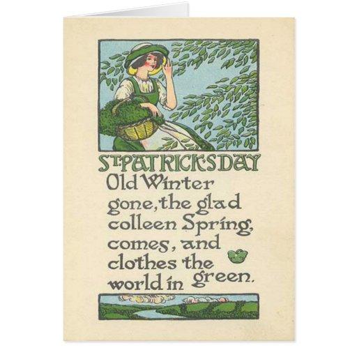 El día de St Patrick del trébol de la primavera de Felicitación