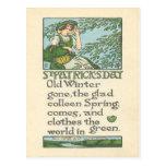 El día de St Patrick del trébol de la primavera de Postal