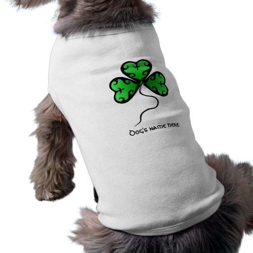 El día de St Patrick del trébol del gótico Camisetas De Mascota