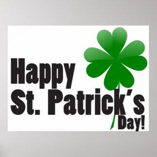 El día de St Patrick del trébol Posters