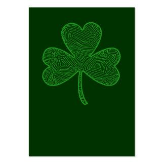 El día de St Patrick del trébol Tarjetas De Visita Grandes