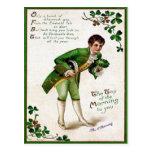 El día de St Patrick del Victorian Postales