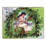 El día de St Patrick del Victorian Tarjetas Postales