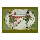 El día de St Patrick del vintage de los Leprechaun Felicitaciones