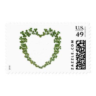 El día de St Patrick del vintage del corazón del Sellos Postales