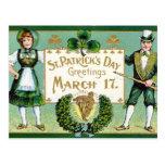 El día de St Patrick del vintage del KRW Tarjetas Postales