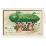 El día de St Patrick del vintage del trébol Tarjeta