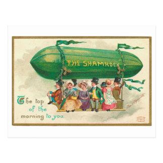 El día de St Patrick del vintage del trébol Tarjetas Postales