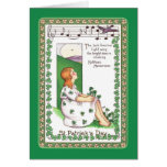El día de St Patrick del vintage Felicitacion