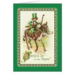 El día de St Patrick del vintage Felicitación