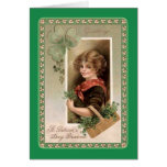El día de St Patrick del vintage Felicitaciones