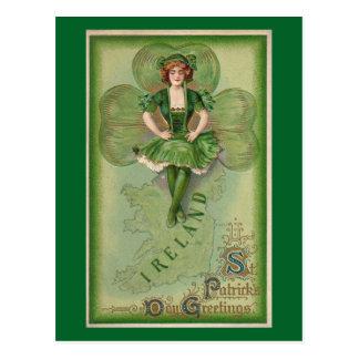 El día de St Patrick del vintage Postal