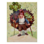El día de St Patrick del vintage Poster