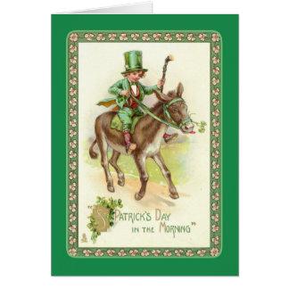 El día de St Patrick del vintage Tarjeta De Felicitación