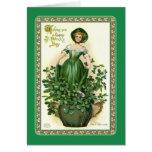 El día de St Patrick del vintage Tarjeton
