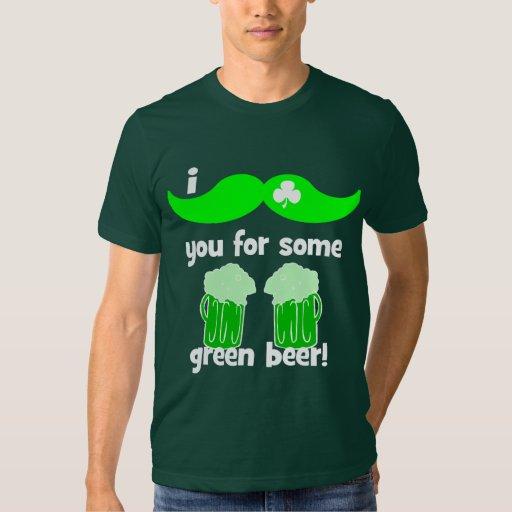 el día de St Patrick divertido del bigote Camisas