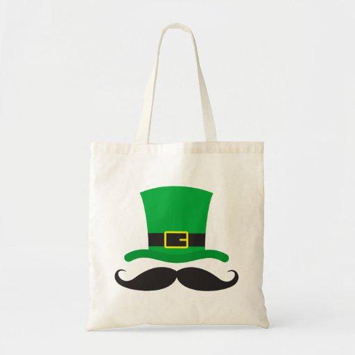 El día de St Patrick divertido del bigote del gorr Bolsas
