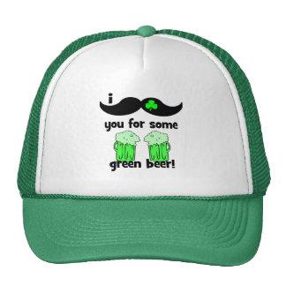 el día de St Patrick divertido del bigote Gorro De Camionero