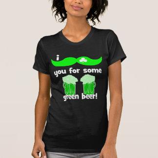 el día de St Patrick divertido del bigote Camiseta